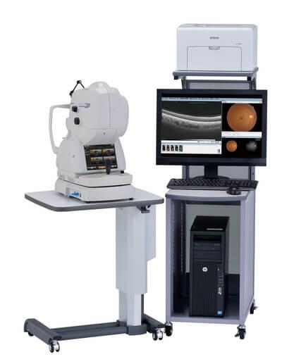 網膜血管の状態を層別に評価するOCTアンギオグラフィー搭載のOCT